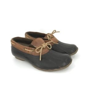 Sperry Duck Boat Shoe Classic Brown Water